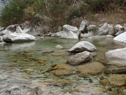 南アルプスの川